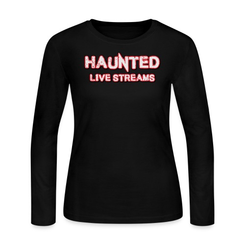 Official Haunted Live Streams Logo - Women's Long Sleeve Jersey T-Shirt