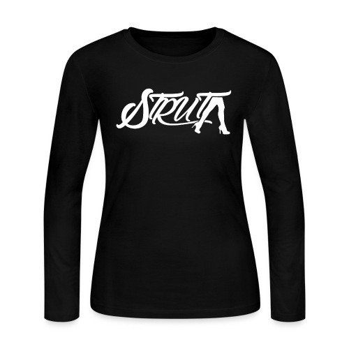 STRUT Logo (with White Text) - Women's Long Sleeve Jersey T-Shirt