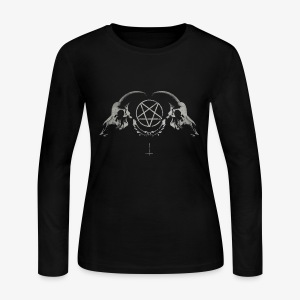 goat skull - Women's Long Sleeve Jersey T-Shirt