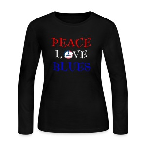 Peace, Love and Blues - Women's Long Sleeve Jersey T-Shirt