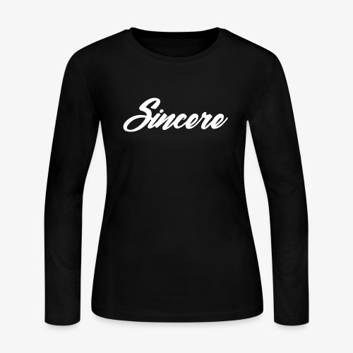 Sincere White Logo - Women's Long Sleeve Jersey T-Shirt