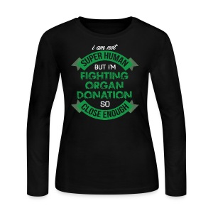 Organ Donation Awareness - Women's Long Sleeve Jersey T-Shirt