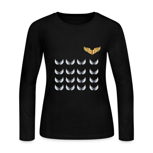 GOLDEN WINGS - Women's Long Sleeve Jersey T-Shirt