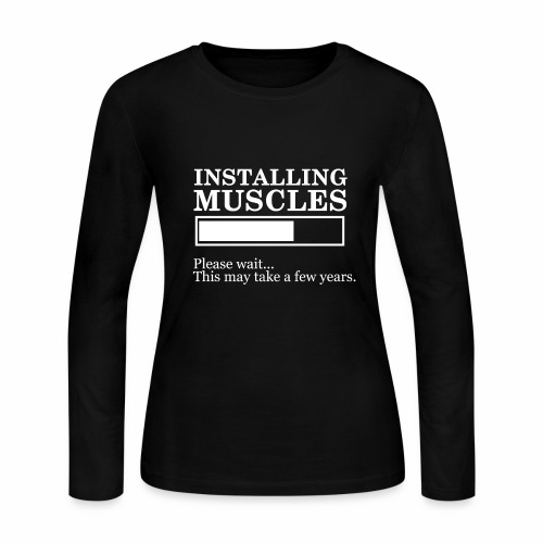 Insalling muscle - Women's Long Sleeve Jersey T-Shirt