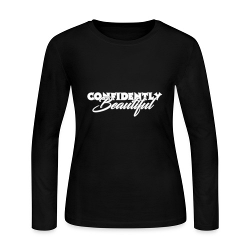 Confidently Beautiful (Dark Collection) - Women's Long Sleeve Jersey T-Shirt