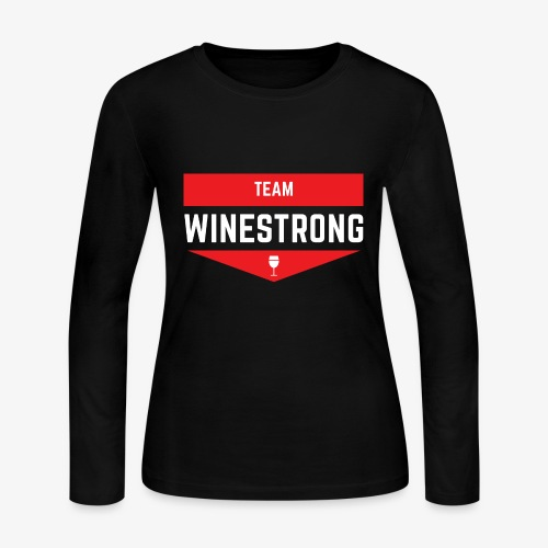WineStrong Logo - Women's Long Sleeve Jersey T-Shirt