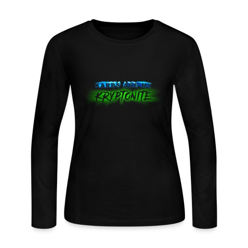 Karbs Are My Kryptonite - Women's Long Sleeve Jersey T-Shirt