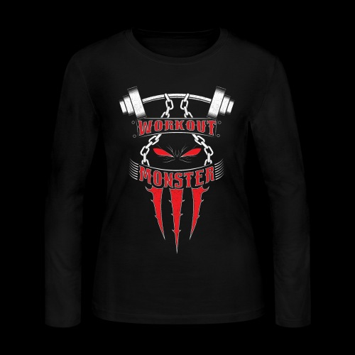 Workout Monster - Women's Long Sleeve Jersey T-Shirt