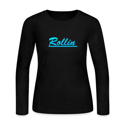 Rollin Logo Blue - Women's Long Sleeve Jersey T-Shirt