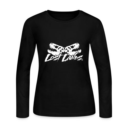 Lost Lands 2018 Skull Logo - Women's Long Sleeve Jersey T-Shirt