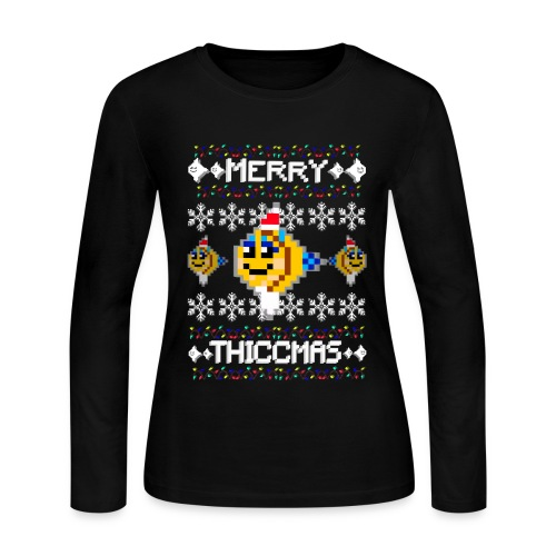 Merry Thiccmas - Women's Long Sleeve Jersey T-Shirt