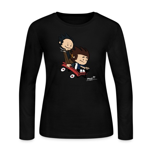 Ryan and William print - Women's Long Sleeve Jersey T-Shirt