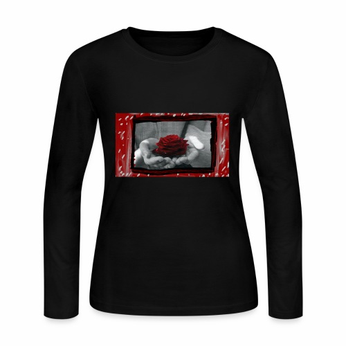 Take A Rose - Women's Long Sleeve Jersey T-Shirt