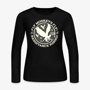 Johnny Cirucci Flying Monkey Squad: emblem 02 - Women's Long Sleeve Jersey T-Shirt