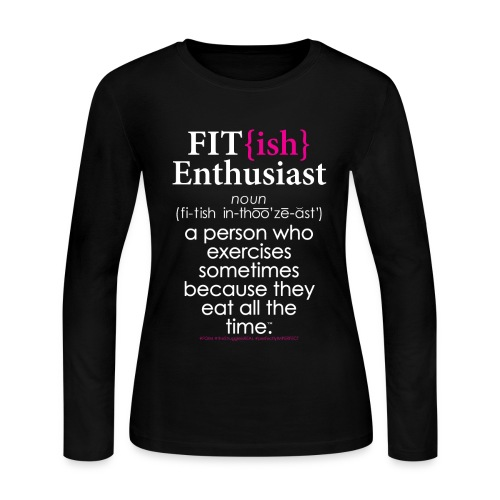 Fit{ish} Enthusiast - Women's Long Sleeve Jersey T-Shirt