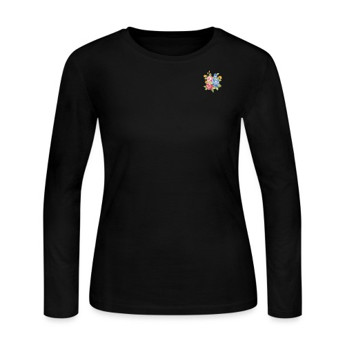 Maggie the Mommy Logo Flower - Women's Long Sleeve Jersey T-Shirt
