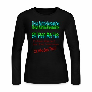 Multiple Personalities - Women's Long Sleeve Jersey T-Shirt