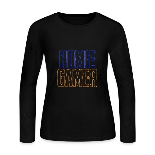 Homie Gamer Clothing (Neon Style) - Women's Long Sleeve Jersey T-Shirt