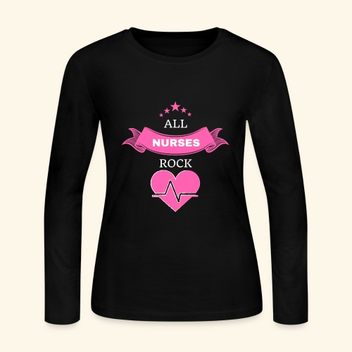 ALL NURSES ROCK - Women's Long Sleeve Jersey T-Shirt
