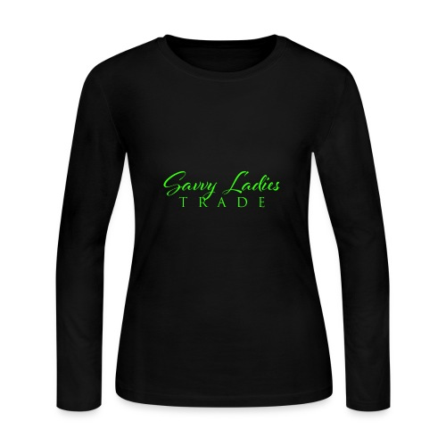 Savvy Ladies Trade Green Logo - Women's Long Sleeve Jersey T-Shirt