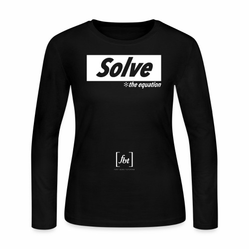 Solve the Equation [fbt] - Women's Long Sleeve Jersey T-Shirt