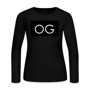 OG design black - Women's Long Sleeve Jersey T-Shirt