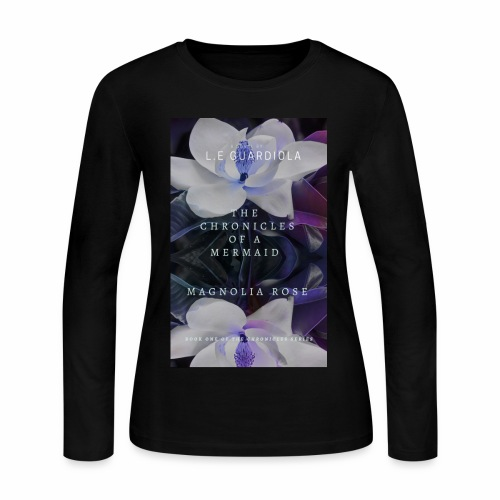 Magnolia Rose Book Cover - Women's Long Sleeve Jersey T-Shirt