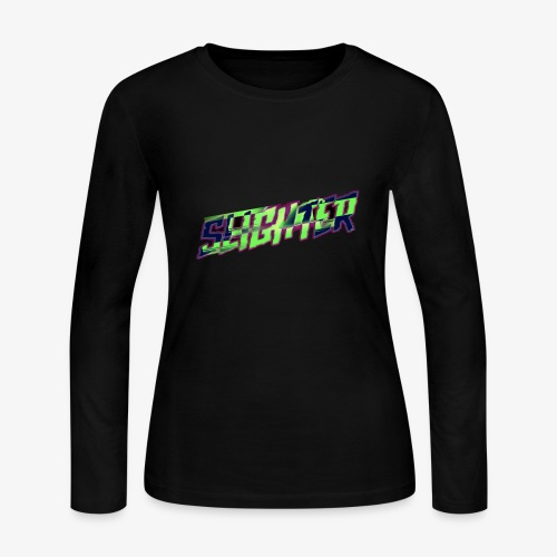 Retro Logo Glitch - Women's Long Sleeve Jersey T-Shirt