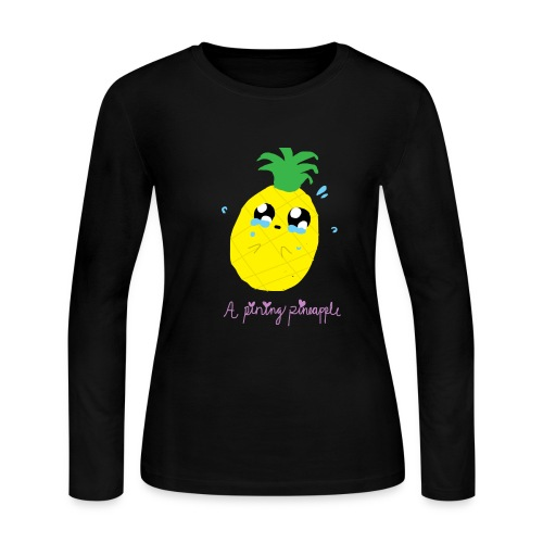 Pining Pineapple - Women's Long Sleeve Jersey T-Shirt