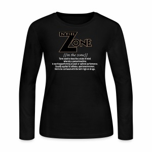 in the zone definition 3 - Women's Long Sleeve Jersey T-Shirt