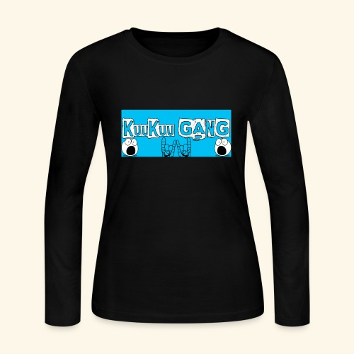 kuukuu gang blue - Women's Long Sleeve Jersey T-Shirt