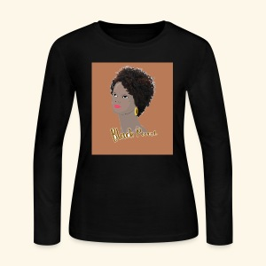 Kinky Curly Black Pearl Natural Hair - Women's Long Sleeve Jersey T-Shirt