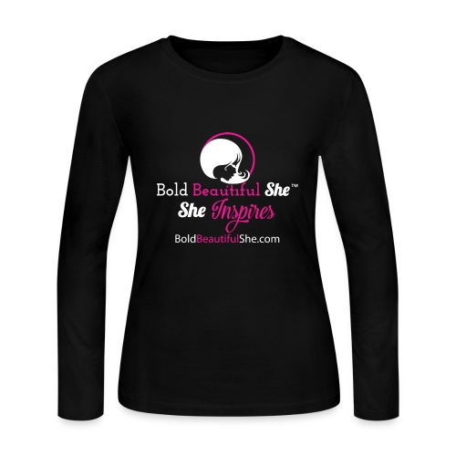 Bold Beautiful She - She Inspires (Black) - Women's Long Sleeve Jersey T-Shirt