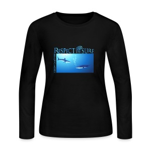 Respect The Shark - Women's Long Sleeve Jersey T-Shirt