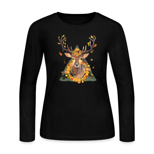 The Spirit of the Forest - Women's Long Sleeve Jersey T-Shirt
