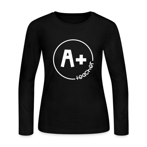 A Plus Teacher - Women's Long Sleeve Jersey T-Shirt