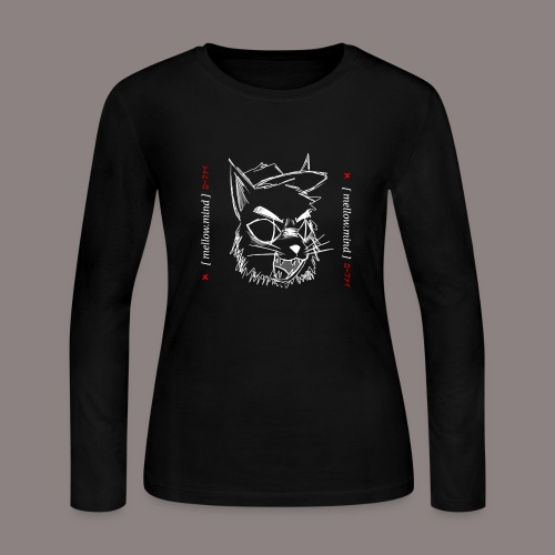 Mellow Mind (White on Black) - Women's Long Sleeve Jersey T-Shirt