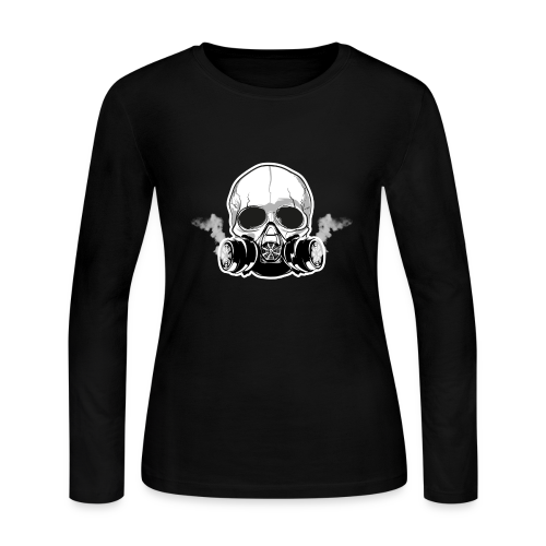 WarBoy Smokin' Skull - Women's Long Sleeve Jersey T-Shirt