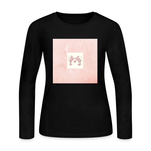 Minnie and Mickey Love - Women's Long Sleeve Jersey T-Shirt