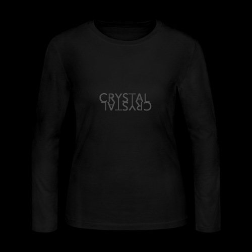 Crystal Logo Black - Women's Long Sleeve Jersey T-Shirt