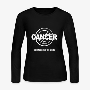 Cancer - Not Defined by the Stars - Women's Long Sleeve Jersey T-Shirt