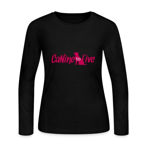 CaNine to Five Logo - Women's Long Sleeve Jersey T-Shirt