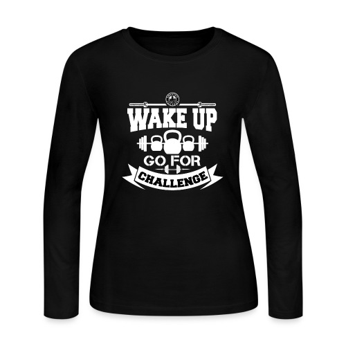Wake Up and Take the Challenge - Women's Long Sleeve Jersey T-Shirt