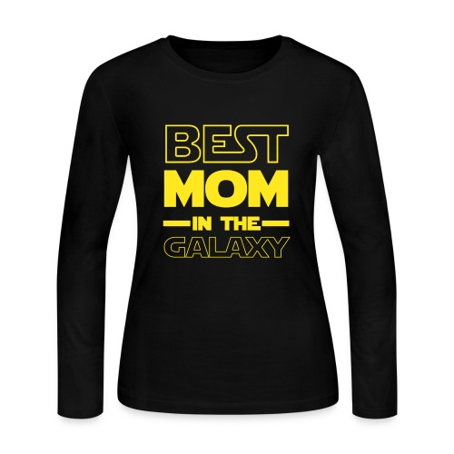 Best Mom In The Galaxy Mother's Day Gift - Women's Long Sleeve Jersey T-Shirt