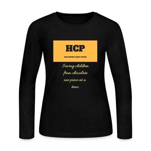 HCP Halloween Candy Police - Women's Long Sleeve Jersey T-Shirt