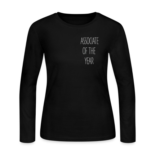 ASSOCIATE OF THE YEAR BLACK - Women's Long Sleeve Jersey T-Shirt