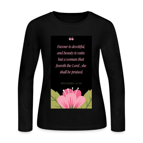A woman that feareth the Lord - Women's Long Sleeve Jersey T-Shirt
