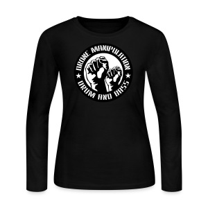 Drone Manipulation FISTS UP - Women's Long Sleeve Jersey T-Shirt