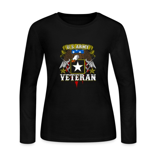 US military Veterans - Women's Long Sleeve Jersey T-Shirt