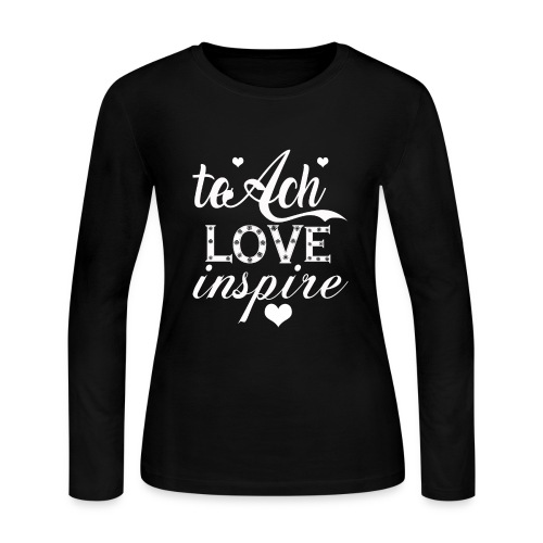 teach-love-inspire t shirt - Women's Long Sleeve Jersey T-Shirt